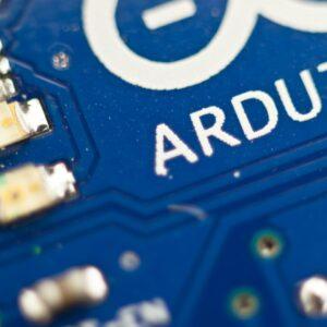 Close-up of Arduino Board