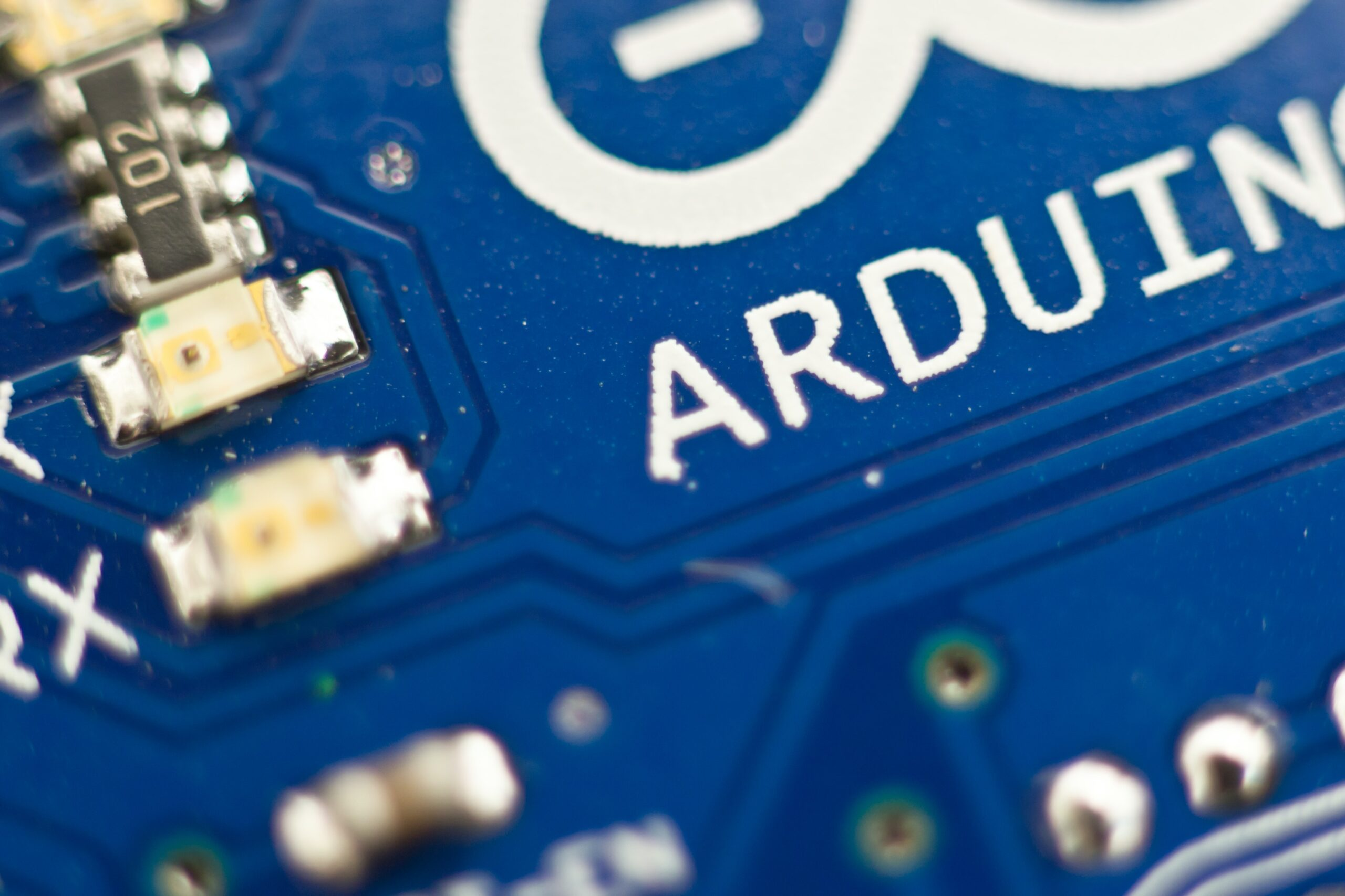Closeup of Arduino Circuit Board